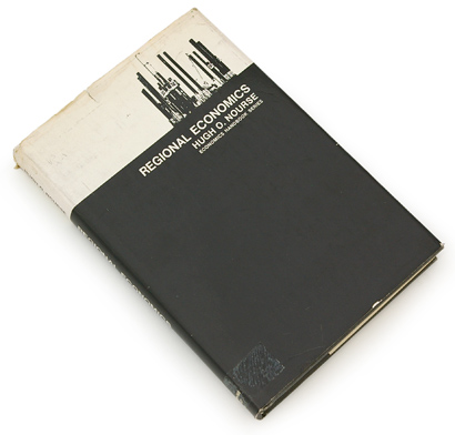 regional-economics-1, book cover, 60s design, sixties graphics, black and white, economics book.