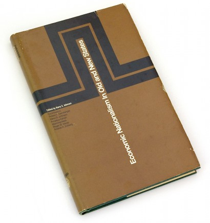 economic nationalism in Old and New States, harry g johnson, 60s design, sixties graphic, abstract cover