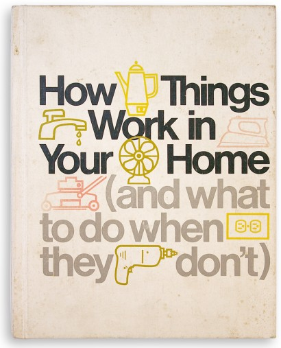 handyman book, 70s design, seventies graphic, typographic cover, icons, helvetica, Edward Frank, Time-Life books