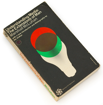 understanding media, the extension of man, marshal mcluhan, 60s design, sixties book, graphic cover design