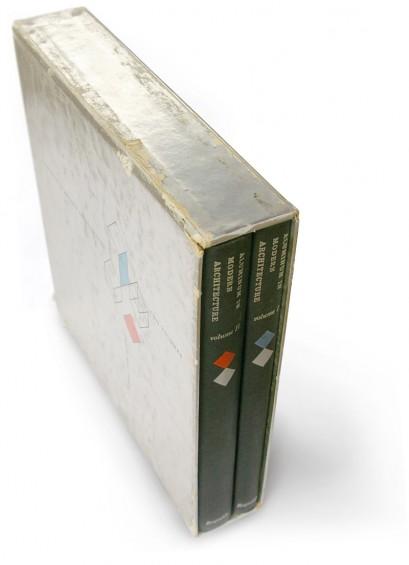 aluminum, modern architecture, mid-century, mod, foil, foil-stamped, casewrap, 50s design, fifties book cover, slip case, rare