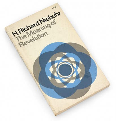 h. richard niebuhr, the meaning of revelation, 60s design, sixties book cover, overprint, graphic, abstract
