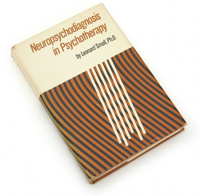 neuropsychodiagnosis in psychotherapy, leonard small, 1973, 70s design, seventies graphics, abstract book cover, stripes, psychology