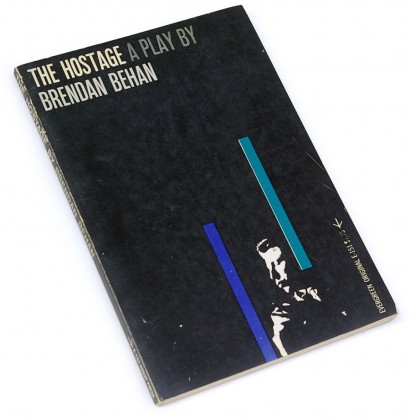 brendan behan, 60s graphics, sixties design, fifties, 50s, playwright, play, evergreen original, grove press, 1959