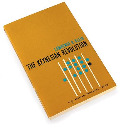 john Maynard Keynes, al corchia jr., lawwrence r. klein, economics, sixties graphics, 60s book cover design, abstract