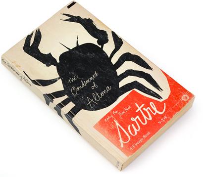 condemned of altona, paul rand, 60s design, sixties illustration, jean paul sartre play, book cover design, 1961