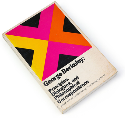 60s design, abstract graphics, sixties book cover, philosophy, george berkeley, library of liberal arts