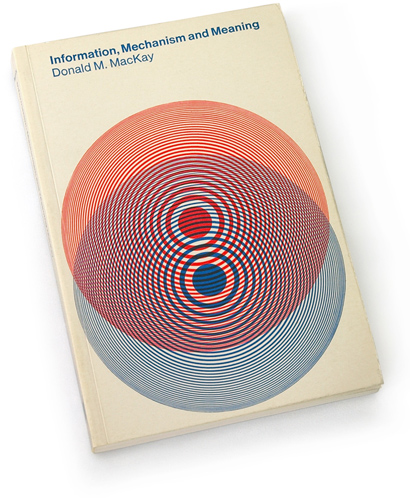 toshihiro katayama, op art, 60s graphics, sixties book cover design, mit press, donald mckay, abstract, overlapping concentric circles.