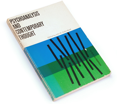 50s book covers, 60s graphic design, sixties graphics, fifties abstract covers, psychoanalysis and contemporary thought, john d. sutherland, designed by roy kuhlman