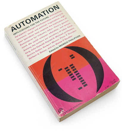 George Giusti, 60s design, 1960s graphics, book cover, paperback, abstract, computer punch card, automation, morris philipson