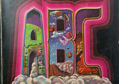 ronald walotsky, 60s illustration, surreal sixties sci-fi typography, hand drawn type