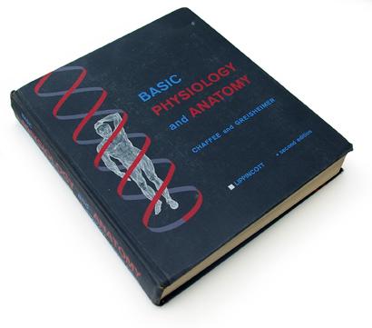 basic physiology and anatomy, lippincott, medical book, 60s