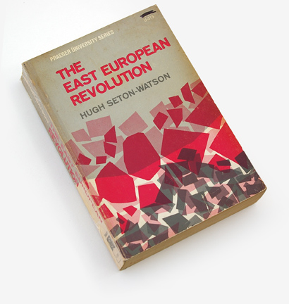 abstract book cover graphics, overprinting, eastern european history, 1966, fifties and sixties graphic design, 60s cover graphic, hugh seton-watson, praeger university press, mid-century graphic design