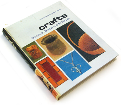 seventies crafts, 70s design, photographic book cover, craft, casewrap