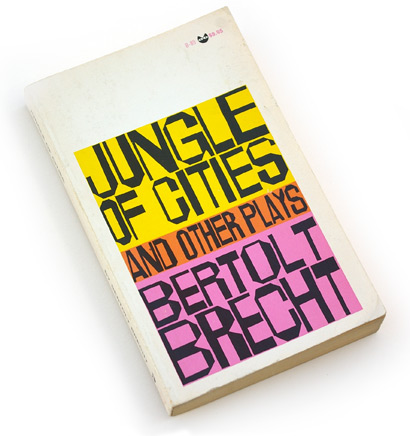 handdrawn type, sixties lettering, 60s graphic design, book cover design, bertolt brecht, ben shahn