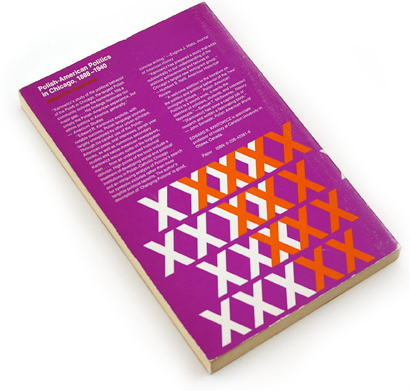 1970s abstract graphics, seventies book cover design, polish-american politics in chicago, purple and orange