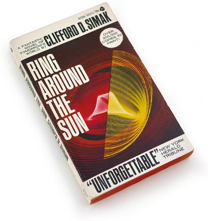 60s mass market paperbacks, sixties graphic design, 1967 sci-fi novel, avon books, abstract science graphics