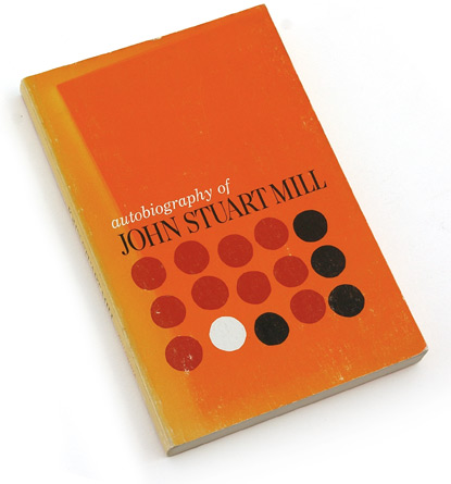 circles, condensed serif, john stuart mill, columbia press, 60s book covers, 1960, sixties graphic design