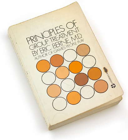60s graphic design, sixties book cover design, paperback, 1966, psychology, berne, kuhlman, circles