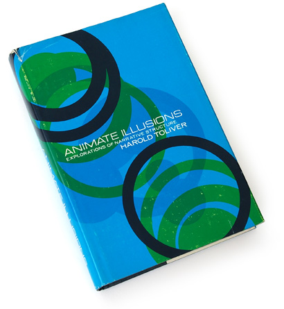 abstract composition, circles overlapping, 70s graphics, 1970s illustration, jack brodie, university of nebraska publishing, harold toliver, blue overprint