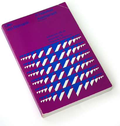 70s book cover design, geometric abstract graphics, seventies, 1972, harold pattek, otto von bismarck, hamerow, heath publishing