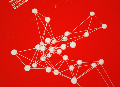 1975, atomic illustrations, atoms, molecules, anthropology, science seventies, book design