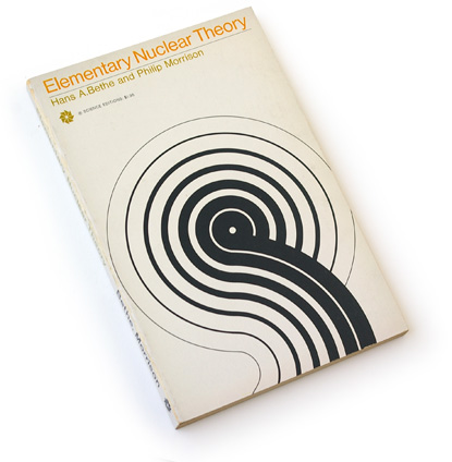 60s science book, sixties graphic design, abstract book graphics, davis/aviles, science editions 1967, hans a boethe, philip morrison, abstract graphics, concentric lines, physics