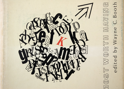 typographic book cover design, type collage 1967