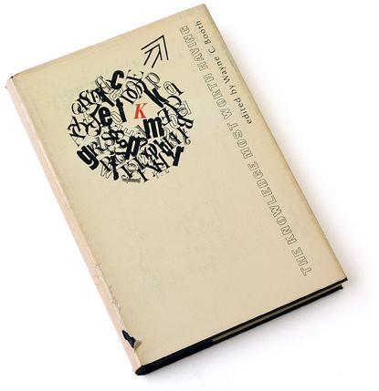 james bradford johnson, typographic collage, 60s book cover, sixties graphic design, wayne c booth
