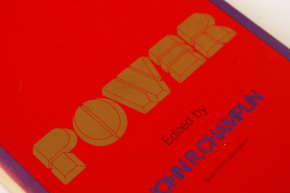 70s type, seventies book design, loretta li, dimensional typography