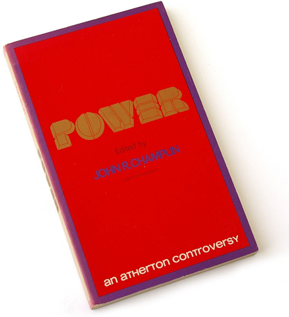champlin, power, designed by loretta li, atherton press, 70s book design, seventies typography, dimensional type