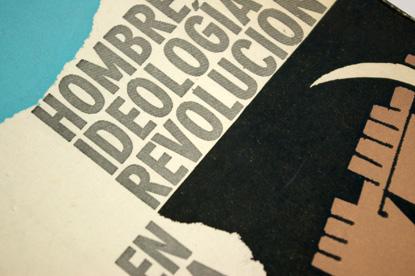 sixties graphic design in latin america, book design in uruguay, religious book cover, spanish, Hombre, Ideologia y Revolución en America Latina, 1965