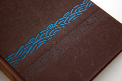 blind-embossed book cover, japan 1950s, fifties book design, cloth bound