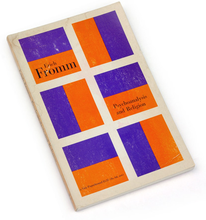 fromm, psychoanalysis, religion, 60s book design, sixties graphics, abstract book graphics