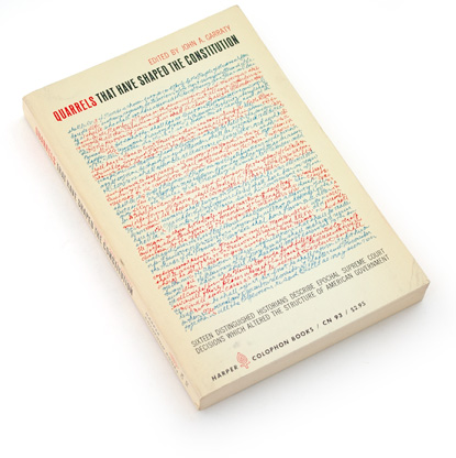 60s graphic design, sixties book design, handwritten, constitution, history book cover, emil antonucci