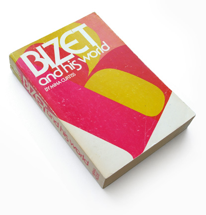70s book cover design, abstract typography, 1970s graphic design, bizet and his world, vienna house, mina curtiss