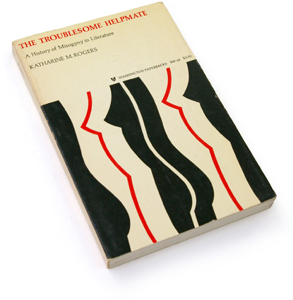 abstract 60s book cover, sixties graphic design, katherine m. rogers, university of washington press 1968, abstract female form