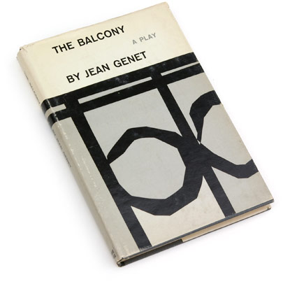 roy kuhlman, play, jean genet, 50s book covers, 60s graphic design, fiffties sixties book jackets, grove press.