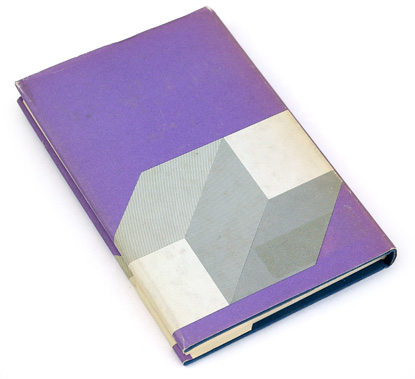 abstract book cover design, op art, 1975