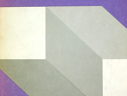 70s book jacket design, abstract op art cover, helvetica