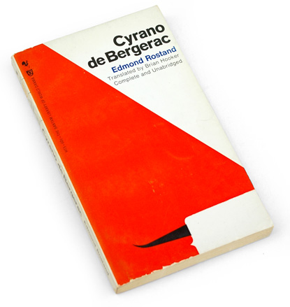 cyrano, graphic cover, gips and danne, 60s book design, sixties graphic design