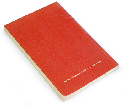 60s graphic design, sixties book cover, red and purple, minimal