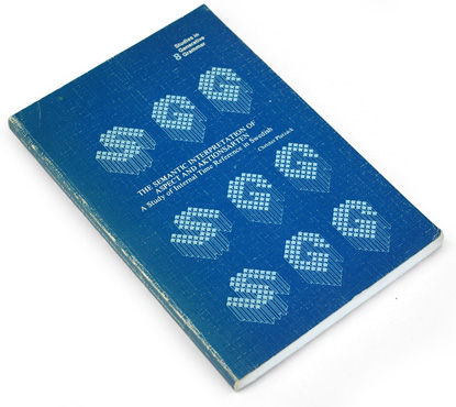 70s graphic design, seventies book cover design, bitmap typography 1970s, swedish, dutch design