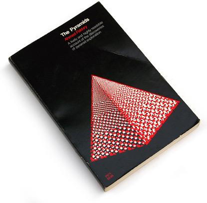 sixties book cover design, 60s graphic design, 1960s graphic, pyramids, university of chicago press 1969