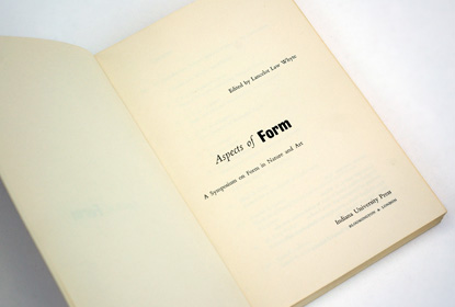 book design 1960s, george sadek, aspects of form, sixties graphic design, title page